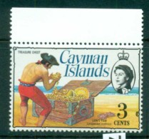 Cayman Is 1974-75 3c Pirate Treasure Chest Defin MUH Lot72531 - Cayman Islands