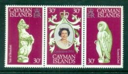 Cayman Is 1978 QEII Coronation, 25th Anniversary , Royalty Str3 MUH - Cayman Islands