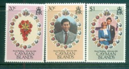 Cayman Is 1981 Charles & Diana Royal Wedding MUH Lot81838 - Cayman Islands