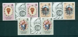 Cayman Is 1981 Royal Weddng, Charles & Diana Gutter Prs MUH Lot72592 - Cayman Islands