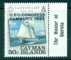 Cayman Is 1984 UPU Congress Hamburg Opt MUH Lot72608 - Cayman Islands