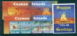 Cayman Is 1984 Xmas Strx2 + MS MUH Lot72611 - Cayman Islands