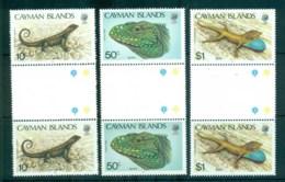 Cayman Is 1987 Lizards Gutter Prs MUH Lot72624 - Cayman Islands