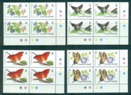 Cayman Is 1988 Butterflies Blks 4 MUH Lot72629 - Cayman Islands