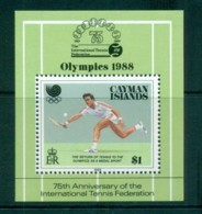 Cayman Is 1988 Seoul Olympics Tennis Federation MS MUH Lot72635 - Cayman Islands