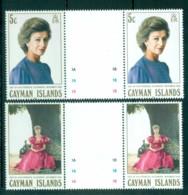 Cayman Is 1988 Visit Of Princess Alexandra Gutter Prs MUH Lot72637 - Cayman Islands