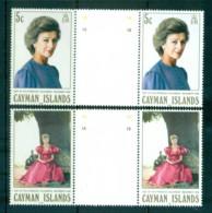 Cayman Is 1988 Visit Of Princess Alexandra Gutter Prs MUH Lot72638 - Cayman Islands