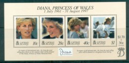 Cayman Is 1998 Princess Diana In Memoriam MS MUH Lot81813 - Cayman Islands