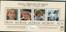 Cayman Is 1998 Princess Diana In Memoriam, MS MUH - Cayman Islands