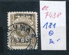 Memel    Nr.  181  O     (ee7438  ) Siehe Scan - Klaipeda