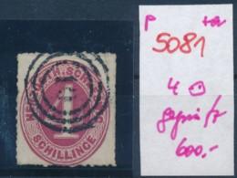 Schleswig.-H.-  Nr. 4 Signiert   O  (p5081  ) Siehe Scan - Schleswig-Holstein