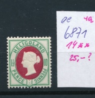 Helgoland   Nr.  14   **   (ee6871  ) Siehe Scan - Heligoland