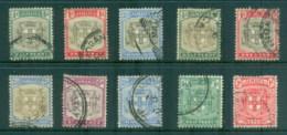 Jamaica 1903 On Arms Of Jamaica Assorted Oddments FU - Jamaica (1962-...)