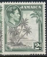Jamaica 1938-51 KGVI Pictorial 2d Columbus Cove MLH - Jamaica (1962-...)