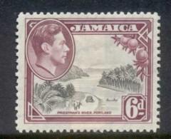 Jamaica 1938-51 KGVI Pictorial 6d Prestman's River MLH - Jamaica (1962-...)