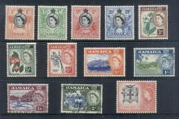 Jamaica 1956 QEII Pictorials Asst To 5/- MLH/FU - Jamaica (1962-...)