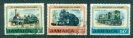 Jamaica 1970 Jamaican Railroad Cent., Trains FU/MLH - Jamaica (1962-...)