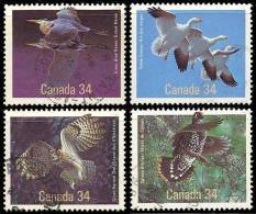 Canada (Scott No.1095-98 - Oiseaux Du Canada / Birds Of Canada) (o) - 1952-.... Règne D'Elizabeth II