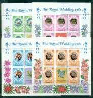 Jamaica 1981 Charles & Diana Wedding 4x Sheetlets MUH Lot45046 - Jamaica (1962-...)