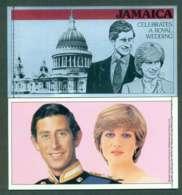 Jamaica 1981 Charles & Diana Wedding Booklet Lot45337 - Jamaica (1962-...)