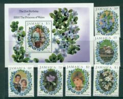 Jamaica 1982 Diana Baby Opt + MS MUH Lot30247 - Jamaica (1962-...)