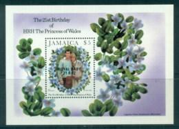 Jamaica 1982 Princess Diana 21st Birthday, Opt Royal Baby MS MUH - Jamaica (1962-...)