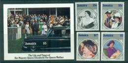 Jamaica 1985 Queen Mother 85th Birthday + MS MUH Lot30250 - Jamaica (1962-...)