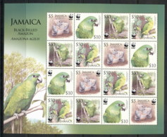 Jamaica 2006 WWF Black-Billed Amazon Bird Sheetlet MUH - Jamaica (1962-...)