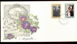 Anguilla  1986 QEII 60th Birthday 2v Fleetwood FDC - Anguilla (1968-...)