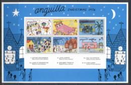 Anguilla 1976 Xmas Children's Paintings MS MUH - Anguilla (1968-...)