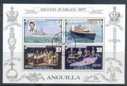 Anguilla 1977 QEII Silver Jubilee MS FU - Anguilla (1968-...)