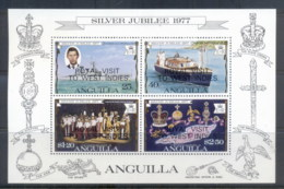 Anguilla 1977 QEII Silver Jubilee Op.t Royal Visit MS MUH - Anguilla (1968-...)