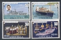 Anguilla 1977 QEII Silver Jubilee Opt. Royal Visit MUH - Anguilla (1968-...)