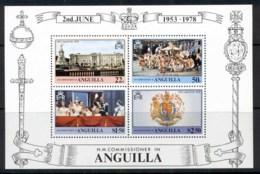 Anguilla 1978 QEII Coronation 25th Anniv. MS MUH - Anguilla (1968-...)