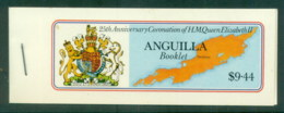 Anguilla 1978 QEII Coronation 25th Anniv., Booklet, (pane Selvage At Right) MUH - Anguilla (1968-...)