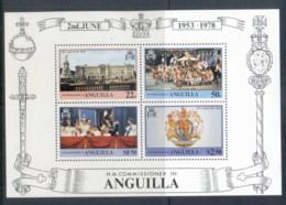 Anguilla 1978 QEII Coronation 25th Anniversary MS MUH - Anguilla (1968-...)
