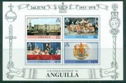 Anguilla 1978 QEII Coronation, 25th Anniversary, Royalty MS MUH - Anguilla (1968-...)