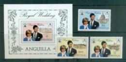 Anguilla 1981 Charles & Diana Royal Wedding + MS MUH Lot81930 - Anguilla (1968-...)