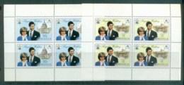 Anguilla 1981 Charles & Diana Royal Wedding Booklet Panes 2x MUH Lot81929 - Anguilla (1968-...)