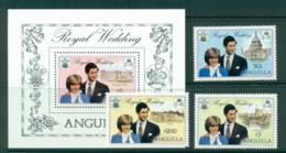 Anguilla 1981 Charles & Diana Wedding + MS MUH Lot30133 - Anguilla (1968-...)