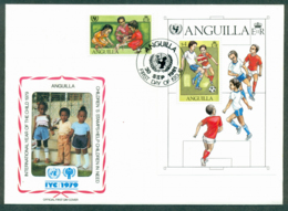 Anguilla 1981 IYC International Year Of The Child $3, $4 MS, FDC Lot32054 - Anguilla (1968-...)