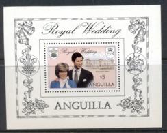 Anguilla 1981 Royal Wedding Charles & Diana MS MUH - Anguilla (1968-...)