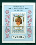 Anguilla 1982 Diana 21st Birthday MS MUH Lot30125 - Anguilla (1968-...)