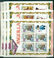 Anguilla 1983 Disney, Dickens Xmas Stories, Pickwick Papers 9x Sheetlets MUH Lot78903 - Anguilla (1968-...)