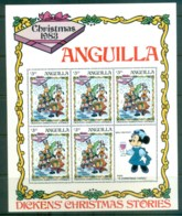 Anguilla 1983 Disney, Xmas, Dickens $3 Sheetlet MS MUH Lot79018 - Anguilla (1968-...)