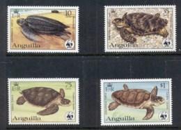 Anguilla 1983 WWF Local Turtles MUH - Anguilla (1968-...)