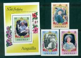 Anguilla 1985 Queen Mother 85th Birthday + MS MUH Lot30136 - Anguilla (1968-...)