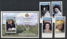 Anguilla 2002 QEII Golden Jubilee + MS MUH - Anguilla (1968-...)