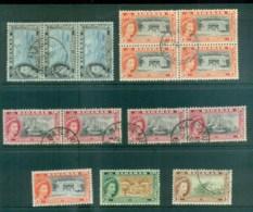 Bahamas 1954 QEII Pictorials Asst FU Lot79247 - Bahamas (1973-...)