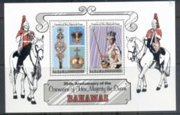 Bahamas 1978 QEII Coronation 25th Anniversary MS MUH - Bahamas (1973-...)
